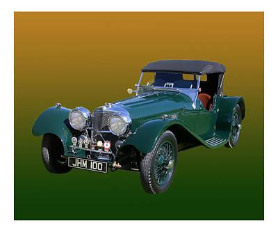 1937 Jaguar S S Onehundred  Poster