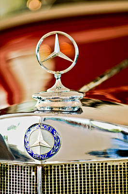 1937 Mercedes-benz Cabriolet Hood Ornament Poster by Jill Reger