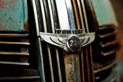 Poster featuring the photograph 1937 Pontiac 224 Grill Emblem by Trever Miller