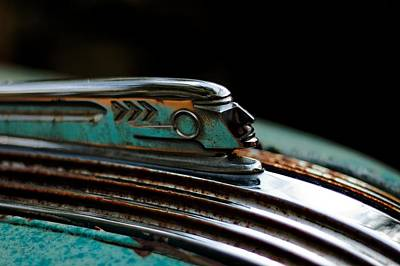 Poster featuring the photograph 1937 Pontiac 224 Hood Ornament by Trever Miller