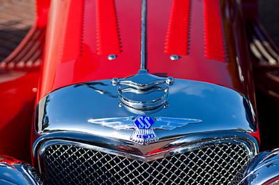 1937 Ss100 3.5-liter Jaguar Roadster Grille Hood Emblem Poster by Jill Reger
