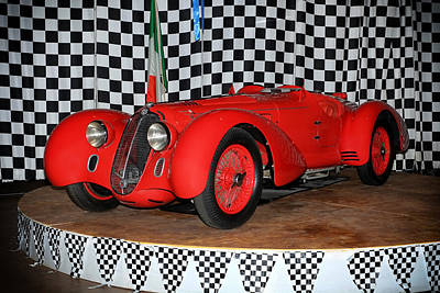 Poster featuring the photograph 1938 Alfa Romeo 2900b Mm by Boris Mordukhayev