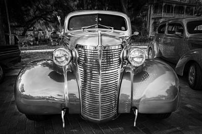 1938 Chevrolet Coupe With Rumble Seat Painted Bw   Poster
