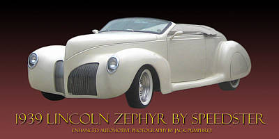 1939 Lincoln Zephyr Poster Poster by Jack Pumphrey