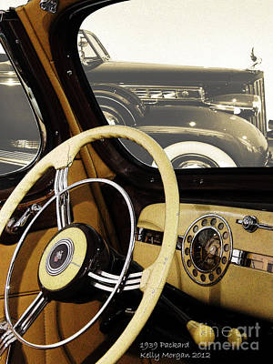 1939 Packard Poster by Kelly Morgan