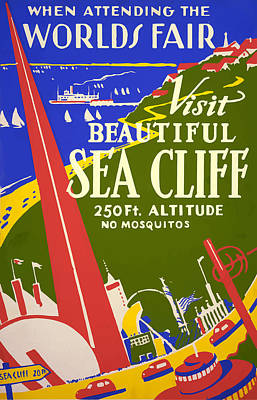 Poster featuring the painting 1939 Sea Cliff - Worlds Fair Celebration by American Classic Art