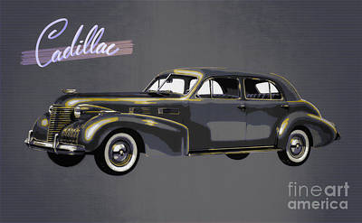 1940 Cadillac Sixty-two Sedan Poster