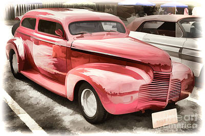1940 Chevrolet Master Classic Painting  Color Red  3112.03 Poster