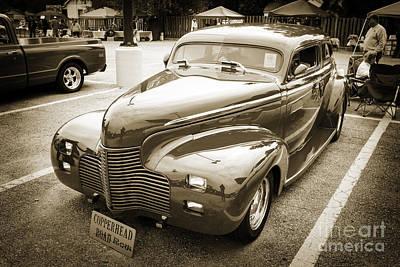 1940 Chevrolet Master Fine Art Classic Car Automobile Sepia  311 Poster