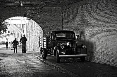 1940 Chevrolet Pickup Truck In Alcatraz Prison Poster
