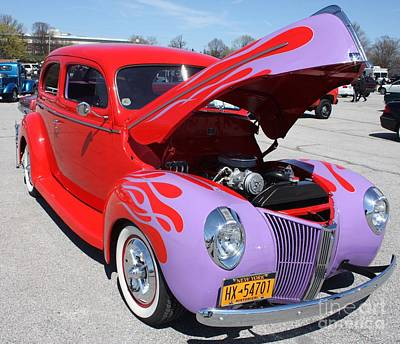 1940 Ford Two Door Sedan Hot Rod Poster
