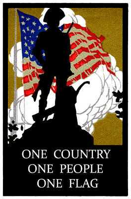 1940 One Country Poster by Historic Image
