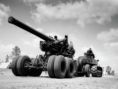 1940s Army Track Laying Vehicle Poster