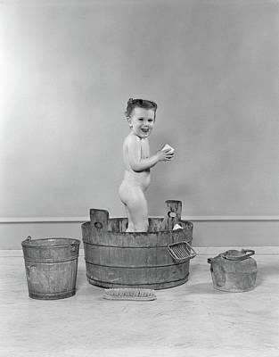 1940s Side View Of Preschool Little Poster