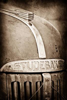 1940's Studebaker Truck Hood Ornament - Emblem Poster by Jill Reger