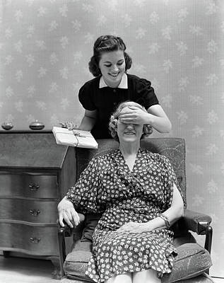 1940s Two Women Smiling Daughter Poster
