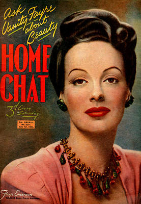 1940s Uk Home Chat Magazine Cover Poster