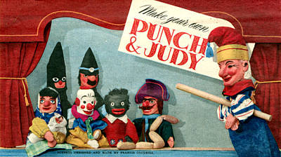 1940s Uk Punch And Judy Magazine Plate Poster by The Advertising Archives