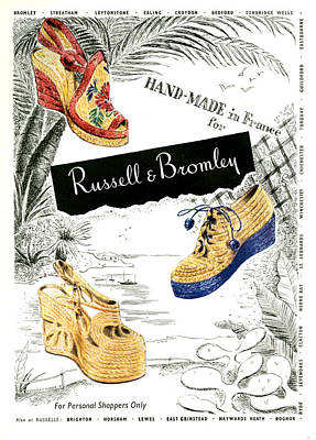 1940s Uk Russell And Bromley Magazine Poster