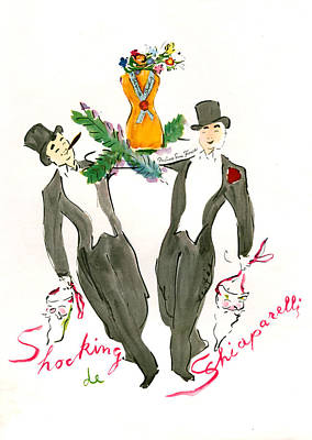 1940s Usa Schiaparelli Magazine Advert Poster