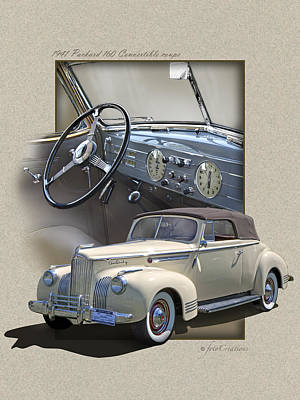 1941 Packard 160 Convertible-high Style Poster