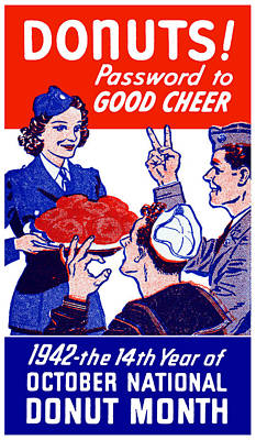 1942 Donut Month Poster Poster