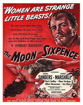 1942 The Moon And Sixpence Poster