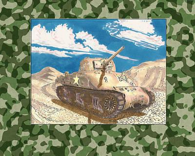 1943 Sherman M 4 H V S S Medium Tank Poster by Jack Pumphrey