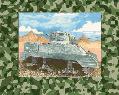 1943 Sturat M 5 Light Combat Tank Poster by Jack Pumphrey