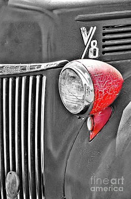 1944 Ford Pickup - Headlight - Sc Poster by Mary Carol Story