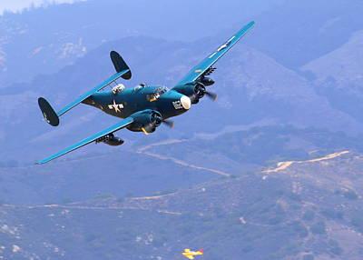 1944 Lockheed Pv-2 Harpoon Pays A Visit At The Salinas Air Show Poster