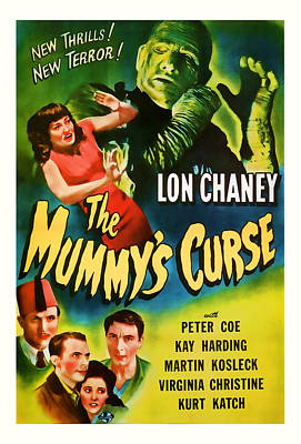 1944 The Mummys Curse Vintage Movie Art Poster