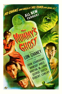 1944 The Mummys Ghost Vintage Movie Art Poster