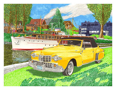 1946 Mk I Lincoln Continental Poster by Jack Pumphrey