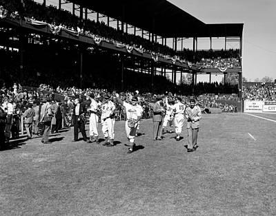 1946 World Series - Sportsman's Park St Louis Poster by Mountain Dreams