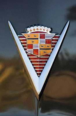 1947 Cadillac Emblem Poster by Jill Reger