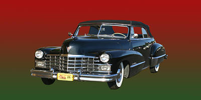 1947 Cadillac Sixty Two Convertible Poster