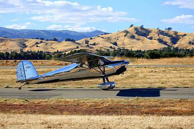 1947 Cessna 140 Taxiing N4151n Poster