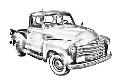 1947 Chevrolet Thriftmaster Pickup Illustration Poster by Keith Webber Jr