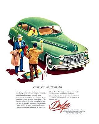 1948 - Dodge Automobile Advertisement - Color Poster