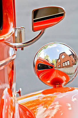 1948 Anglia Rear View Mirror -451c Poster by Jill Reger