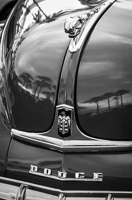1948 Dodge Ram Hood Ornament - Emblem Poster by Jill Reger