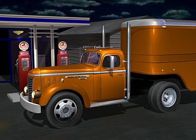 1948 Gmc Diesel Poster by Stuart Swartz