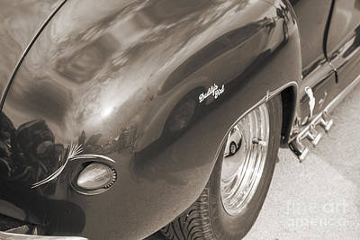 1948 Plymouth Rear Fender And Tail Light Sepia 3381.01 Poster by M K  Miller