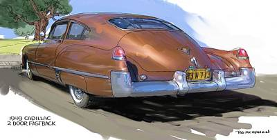 1949 Cadillac Fastback Poster by RG McMahon