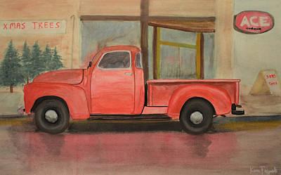 1949 Chevy Pickup Poster by Ken Figurski