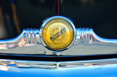 1949 Chrysler Windsor Grille Emblem Poster