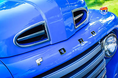 1949 Ford F-1 Pickup Truck Grille Emblem -0009c Poster by Jill Reger