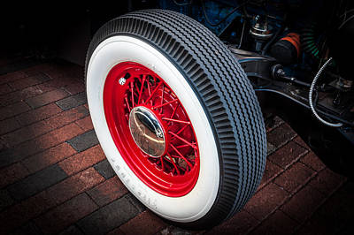 1949 Ford Pick Up Truck Wheel Poster by Rich Franco