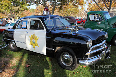 1949 Ford Police Car 5d26224 Poster by Wingsdomain Art and Photography
